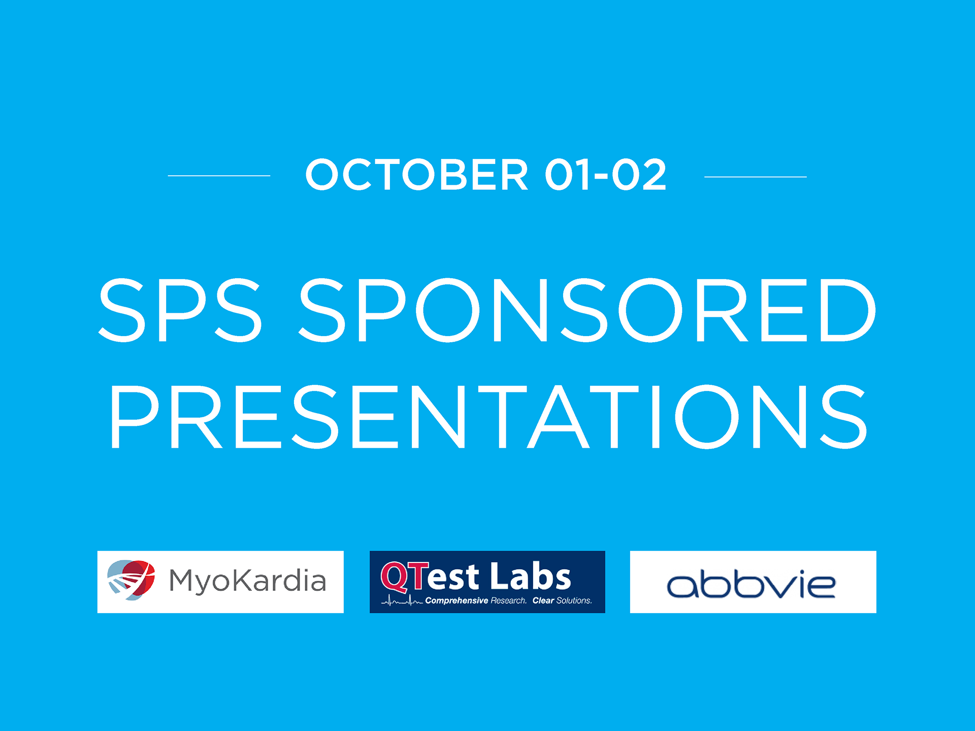 Safety Pharmacology Annual Meeting SPS2018 Sponsored Presentations 1