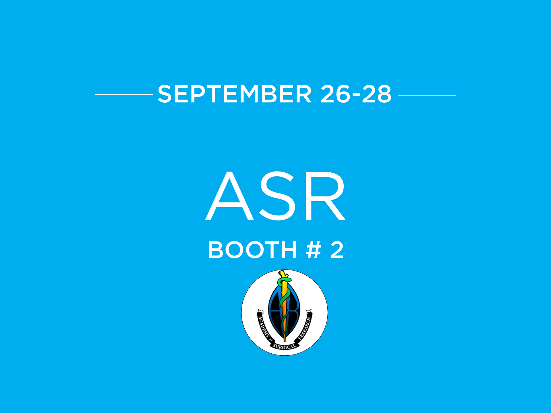 Academy of Surgical Research Annual Meeting ASR 2018 1