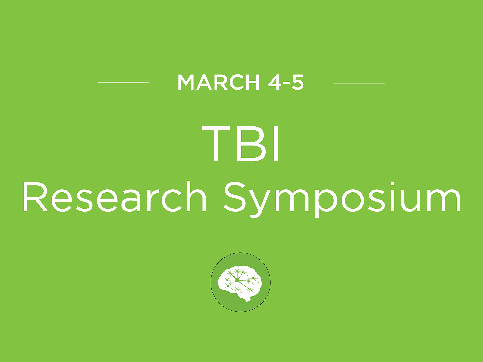TBI research symposium